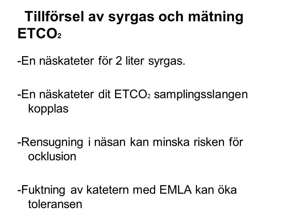 Tillförsel av syrgas och mätning ETCO2