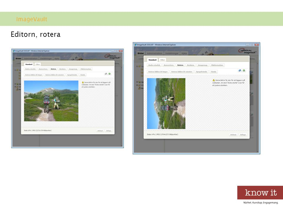 ImageVault Editorn, rotera