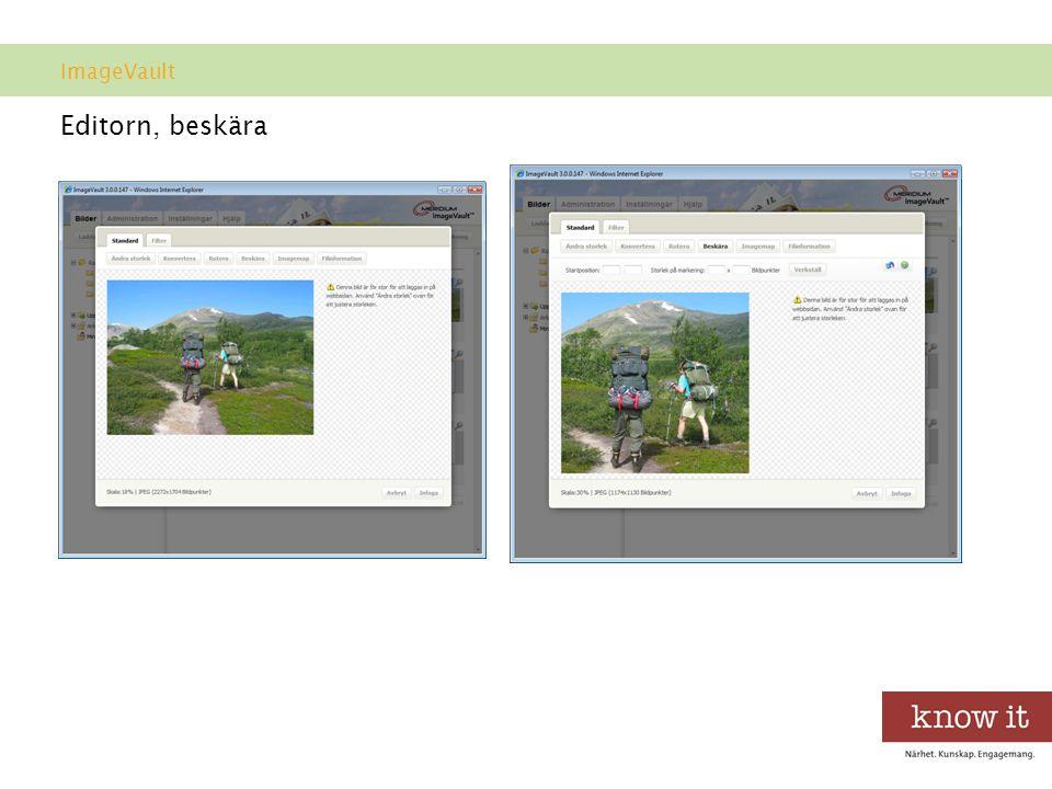ImageVault Editorn, beskära