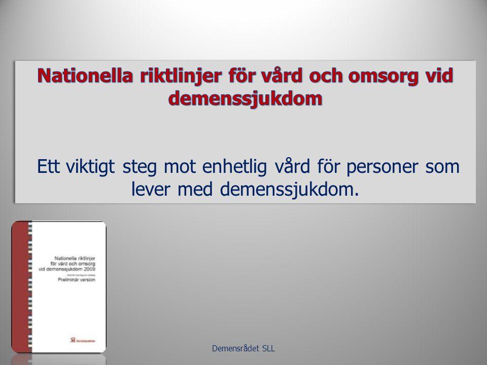 Nationella riktlinjer för vård och omsorg vid demenssjukdom