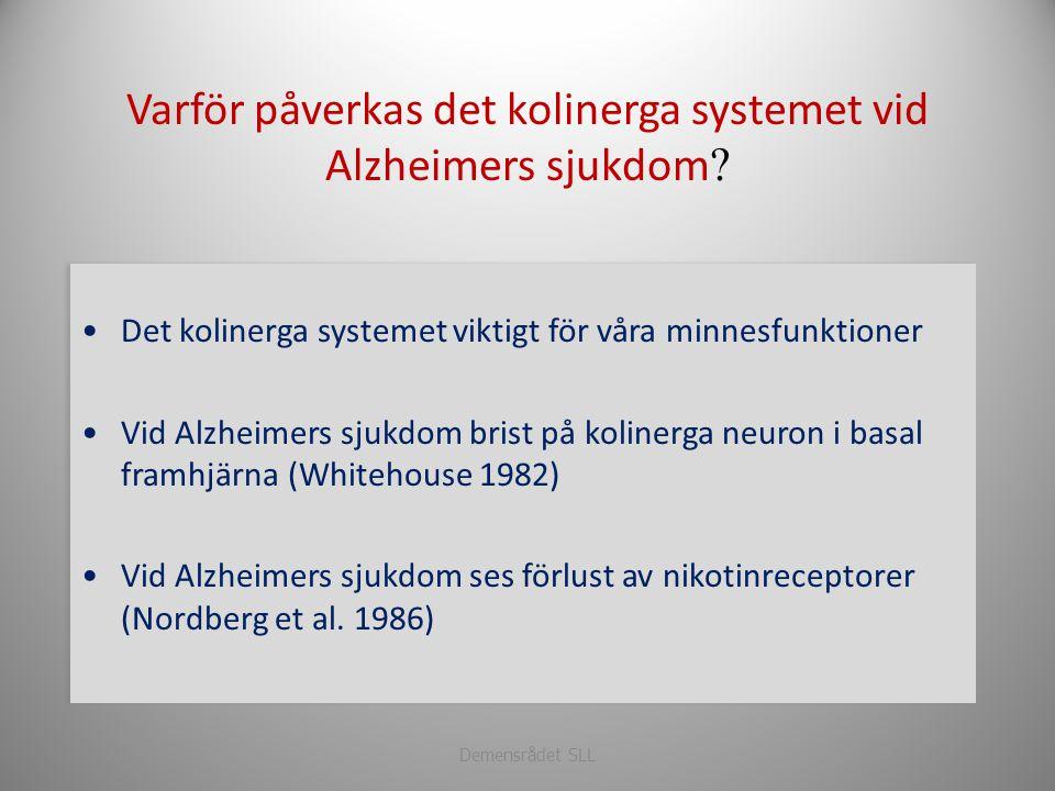 Varför påverkas det kolinerga systemet vid Alzheimers sjukdom