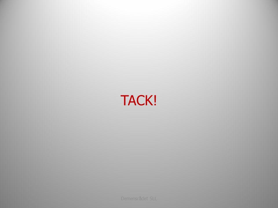 TACK! Demensrådet SLL