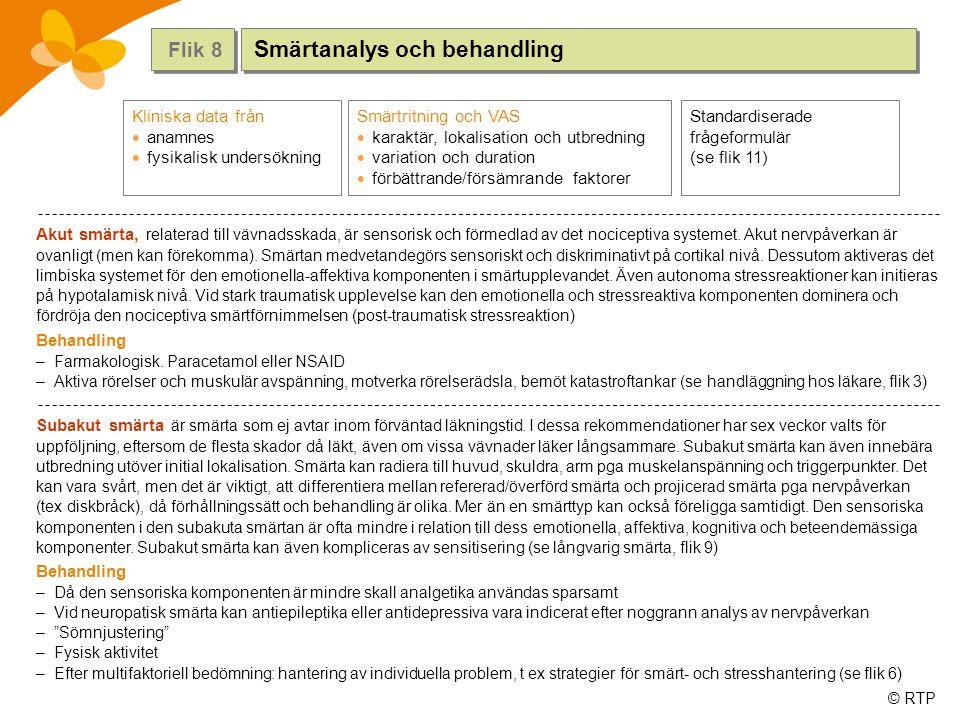 Smärtanalys och behandling