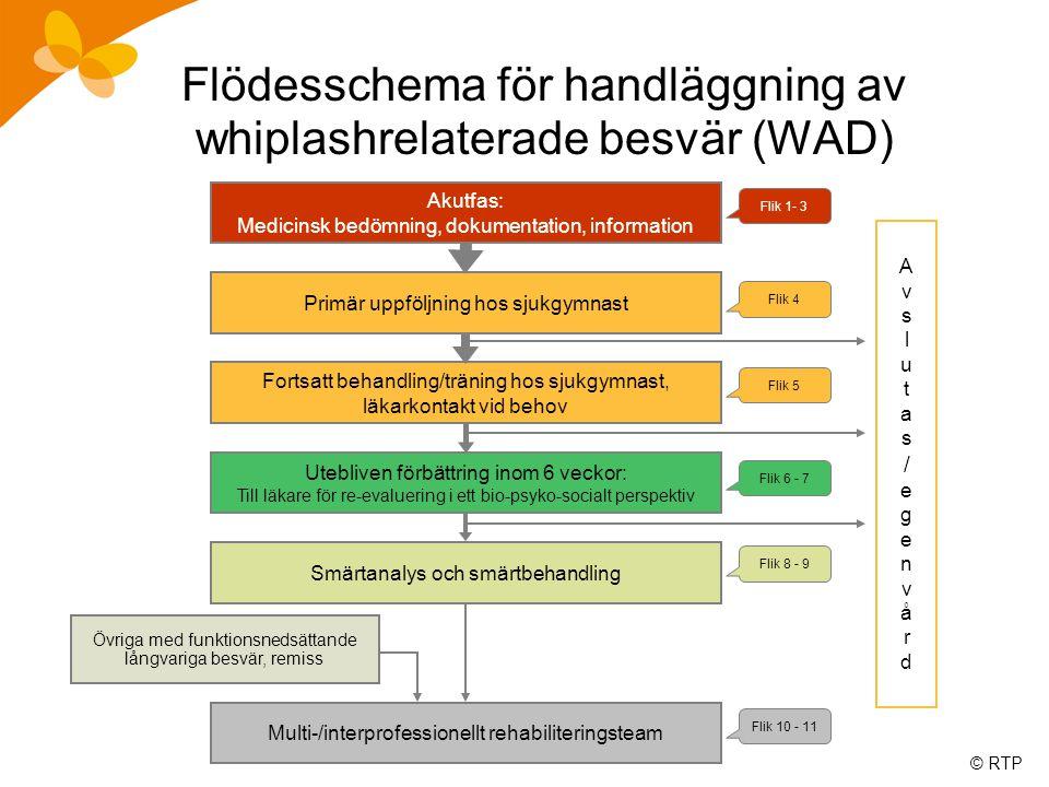 Flödesschema för handläggning av whiplashrelaterade besvär (WAD)