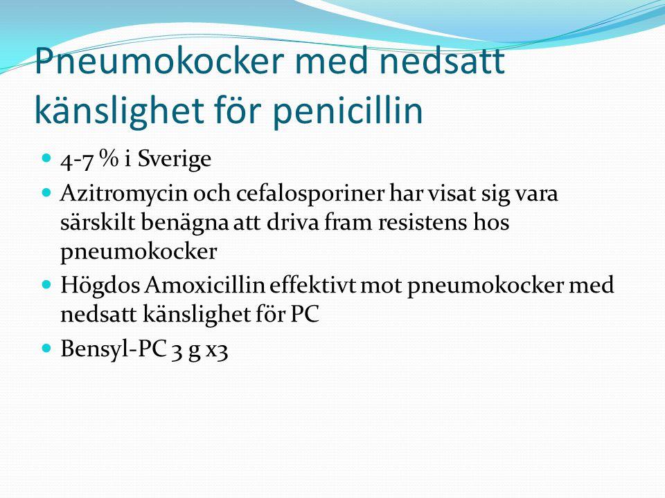 Pneumokocker med nedsatt känslighet för penicillin