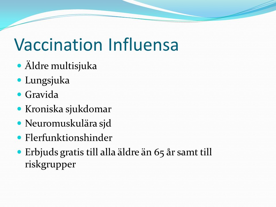 Vaccination Influensa