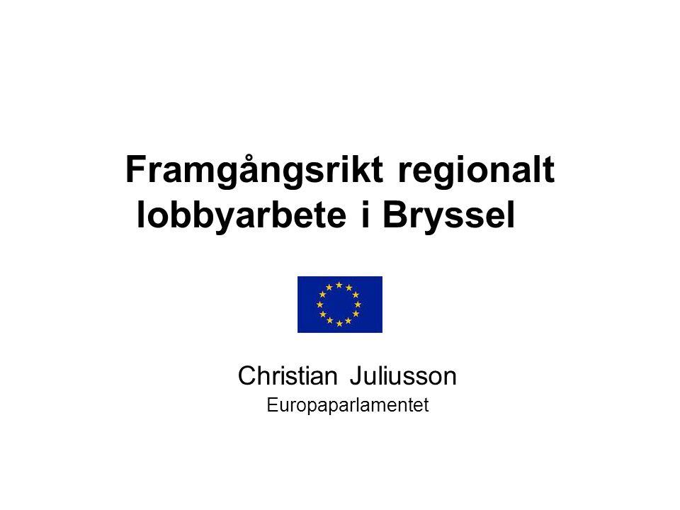 Framgångsrikt regionalt lobbyarbete i Bryssel