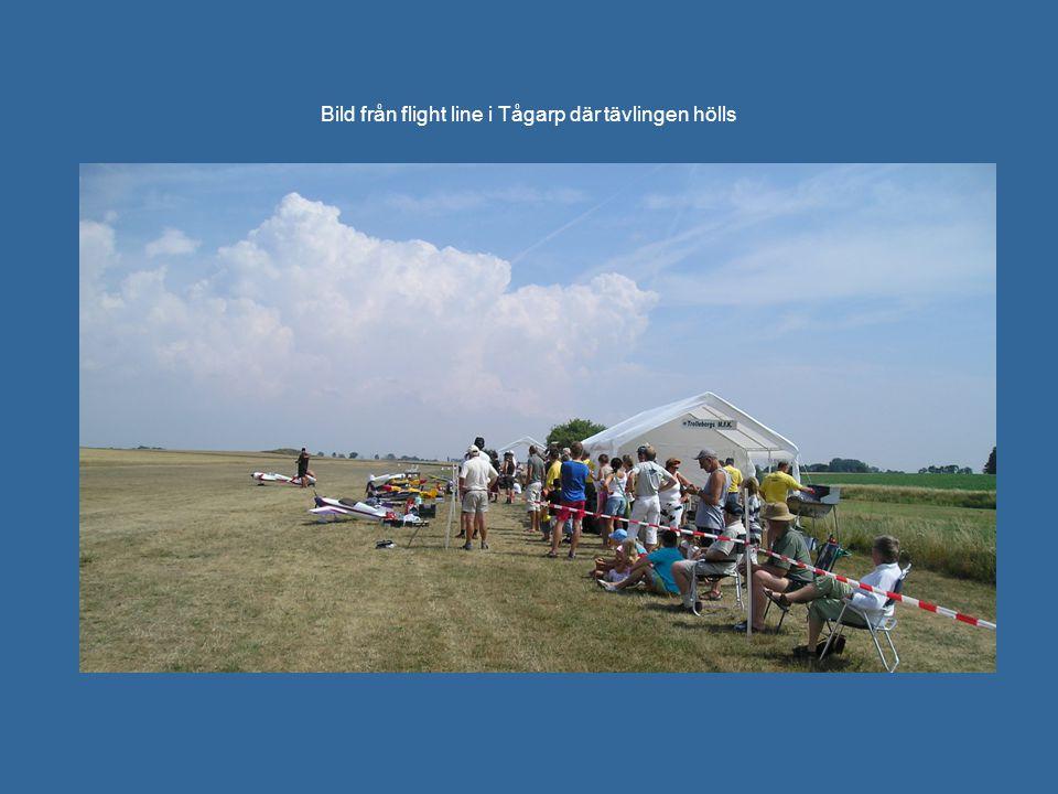 Bild från flight line i Tågarp där tävlingen hölls