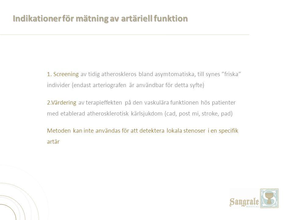 Indikationer för mätning av artäriell funktion