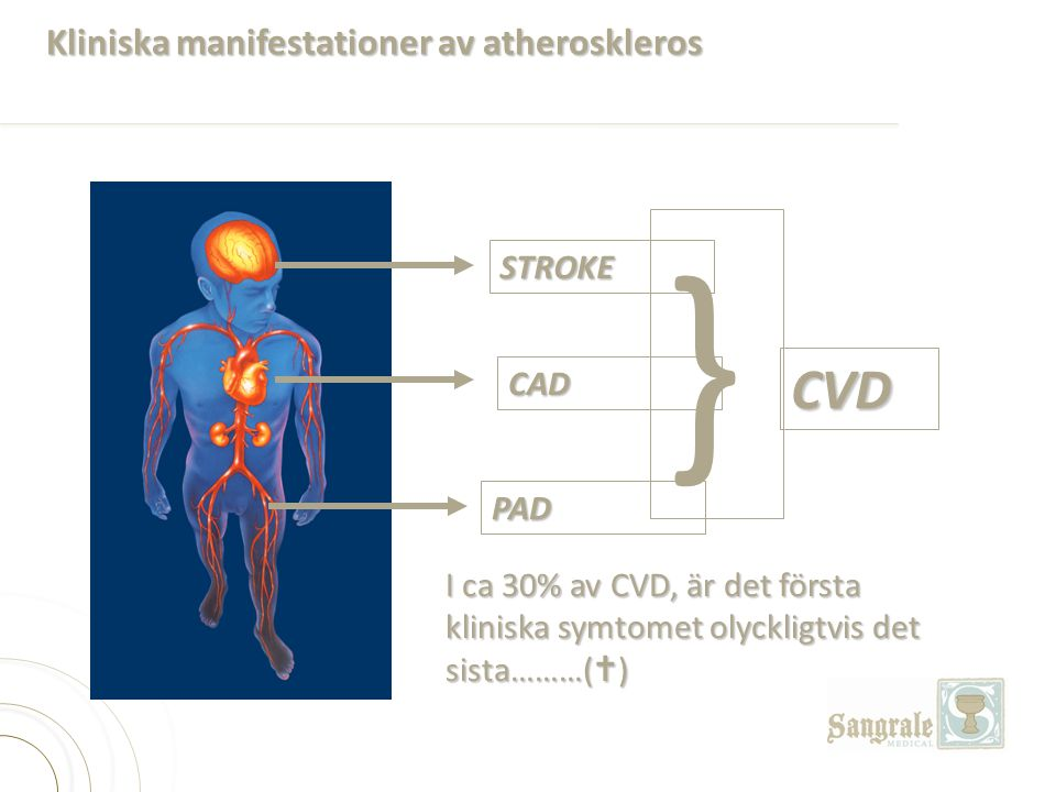 Kliniska manifestationer av atheroskleros