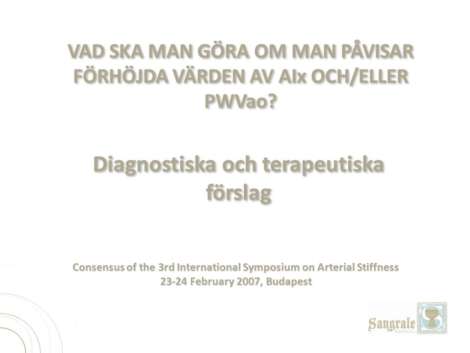 Diagnostiska och terapeutiska förslag