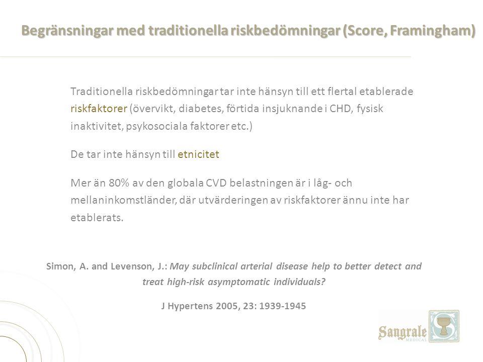 Begränsningar med traditionella riskbedömningar (Score, Framingham)