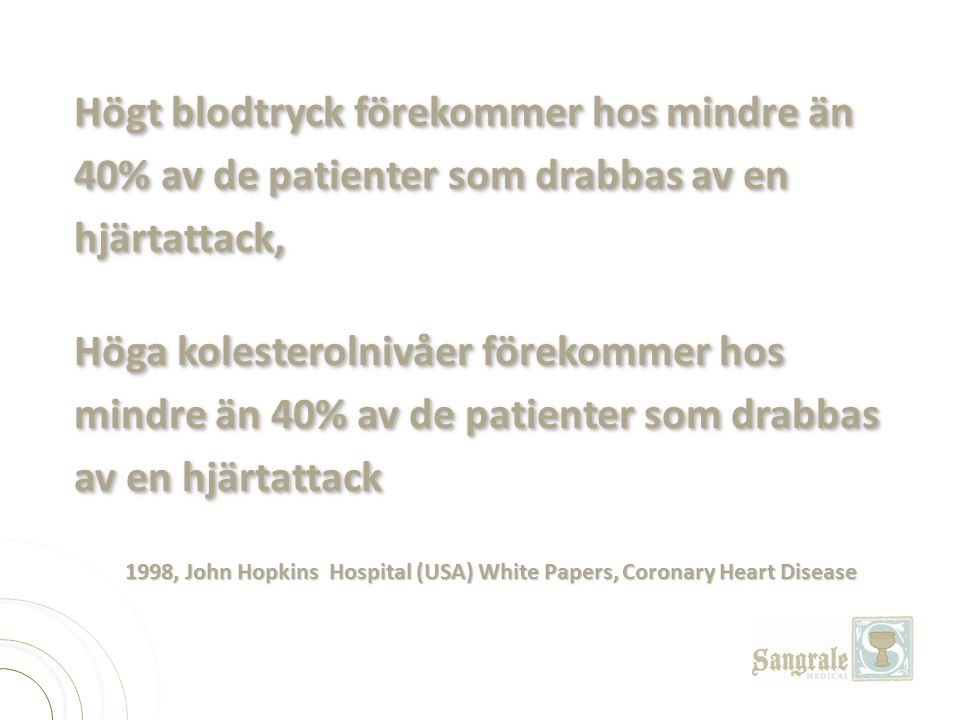 1998, John Hopkins Hospital (USA) White Papers, Coronary Heart Disease