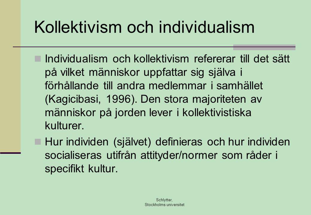 Kollektivism och individualism