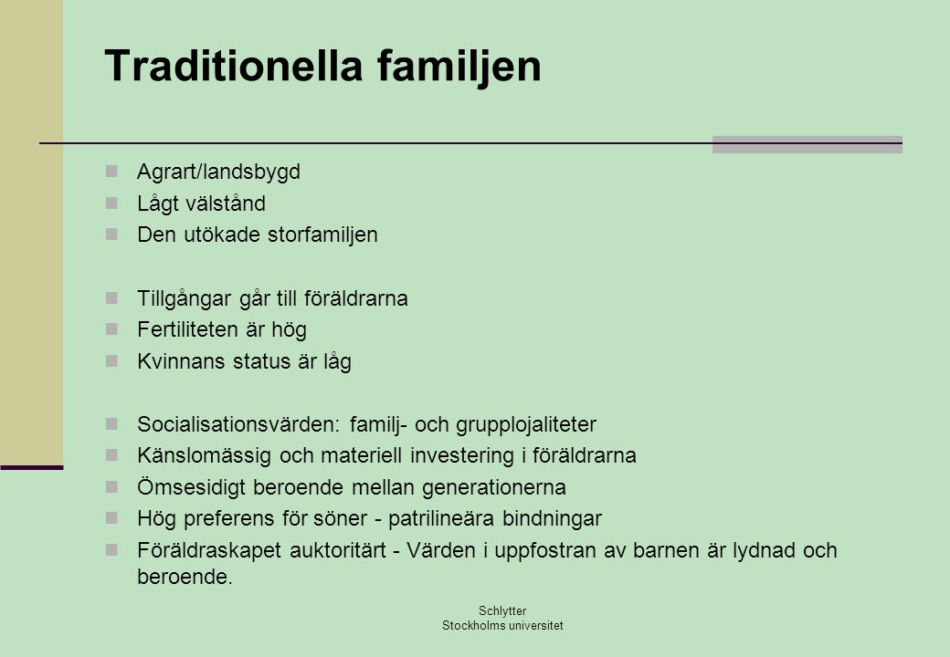 Traditionella familjen