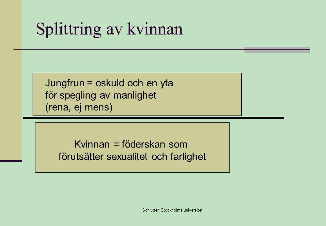 Splittring av kvinnan Jungfrun = oskuld och en yta