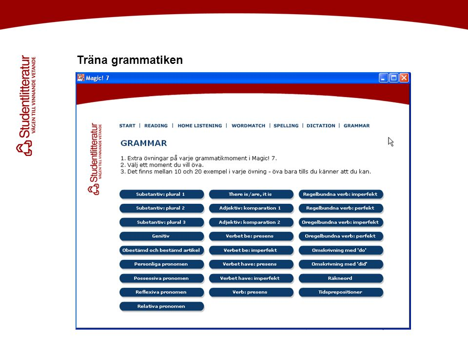 Träna grammatiken Håkan! Efter inledningstexten skulle jag vilja visa bild på skivan (=labeln)