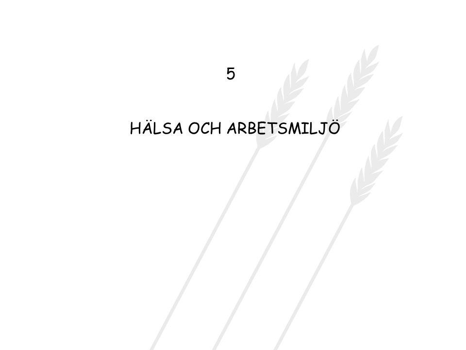 5 HÄLSA OCH ARBETSMILJÖ