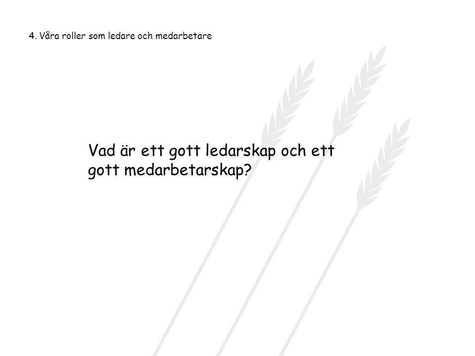 Vad är ett gott ledarskap och ett gott medarbetarskap
