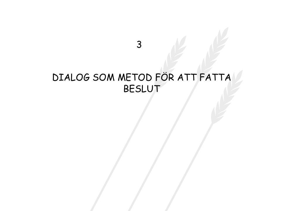 DIALOG SOM METOD FÖR ATT FATTA BESLUT
