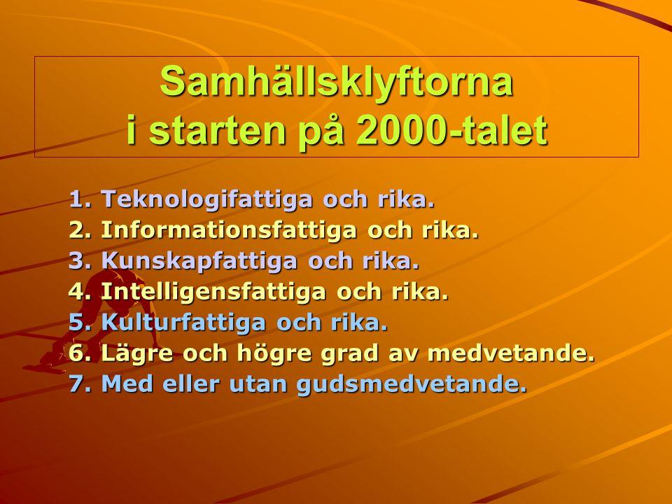 Samhällsklyftorna i starten på 2000-talet
