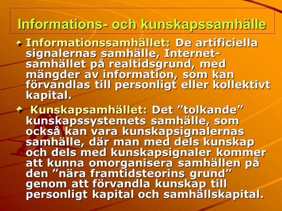 Informations- och kunskapssamhälle