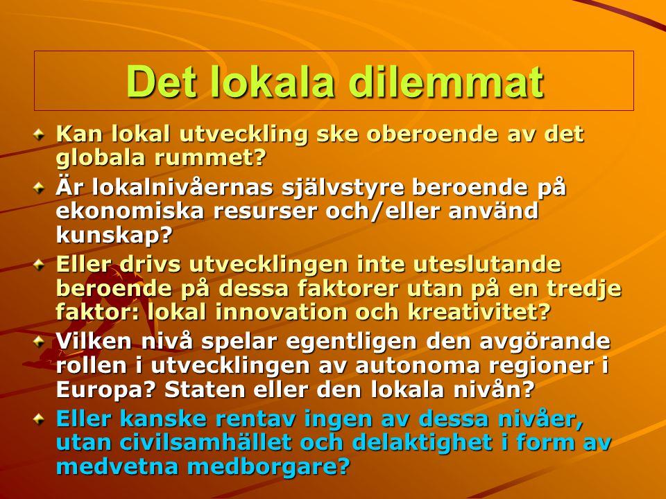 Det lokala dilemmat Kan lokal utveckling ske oberoende av det globala rummet