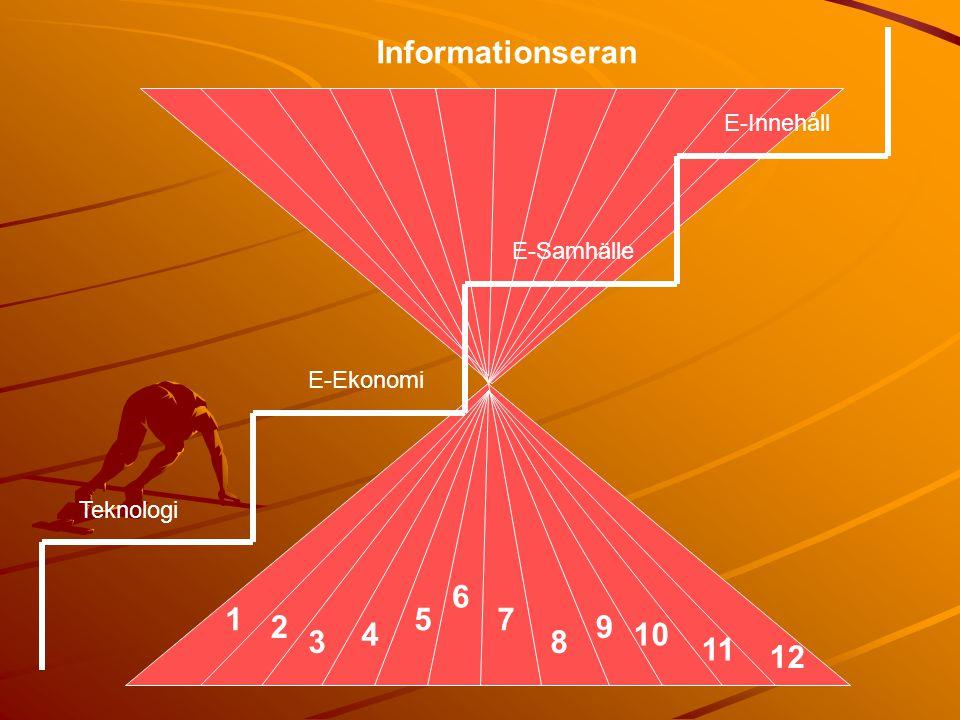 Informationseran 6 1 5 7 2 9 4 10 3 8 11 12 E-Innehåll E-Samhälle