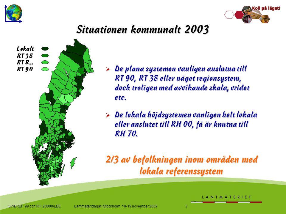 Lokalt RT 38 RT R.. RT 90 SWEREF 99 och RH 20000/LEE