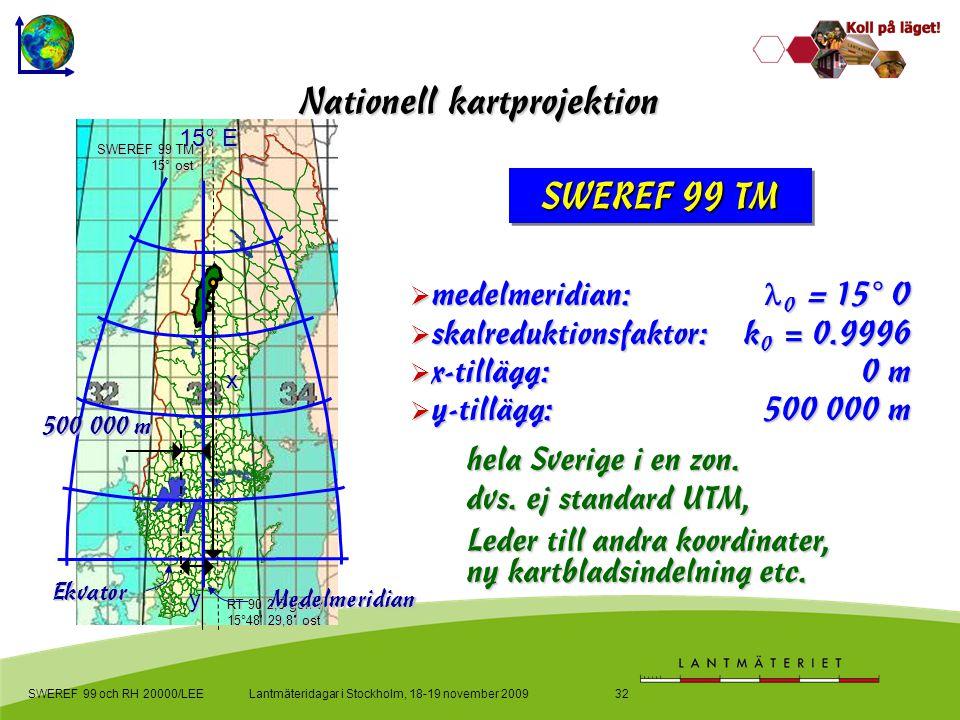 skalreduktionsfaktor: k0 = 0.9996 x-tillägg: 0 m y-tillägg: 500 000 m
