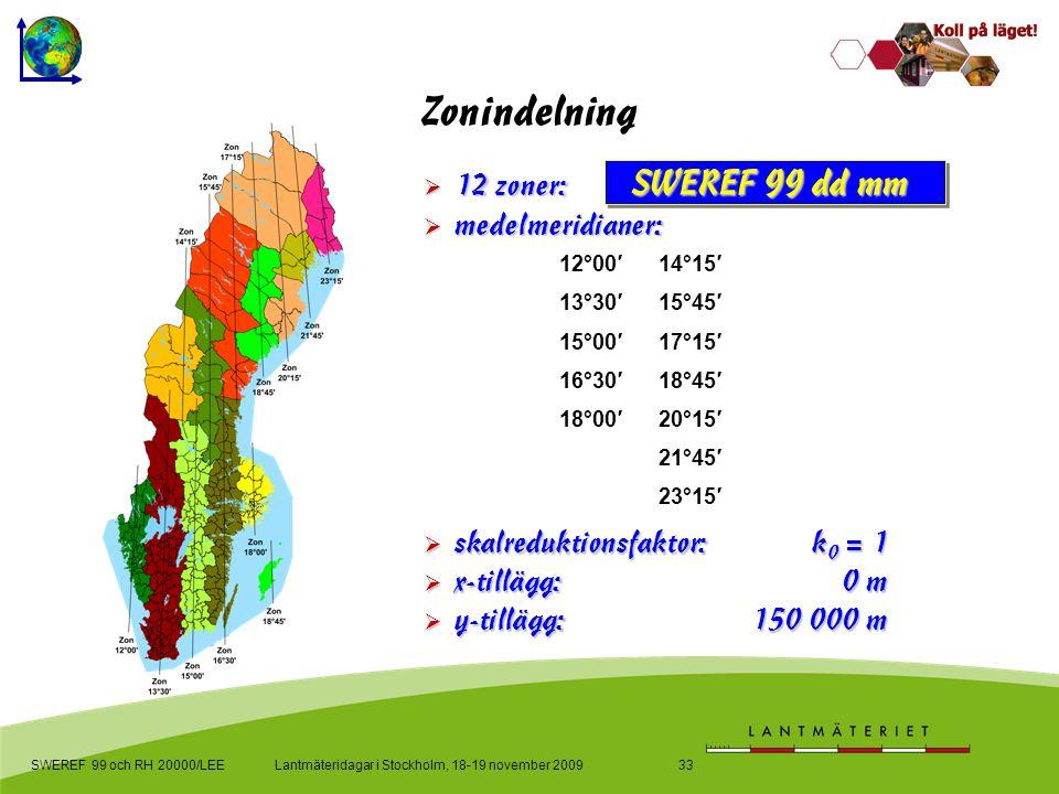skalreduktionsfaktor: k0 = 1 x-tillägg: 0 m y-tillägg: 150 000 m