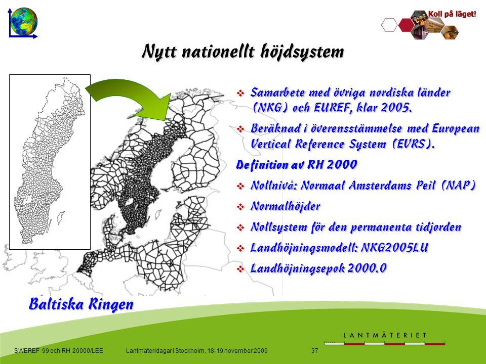 Samarbete med övriga nordiska länder (NKG) och EUREF, klar 2005.
