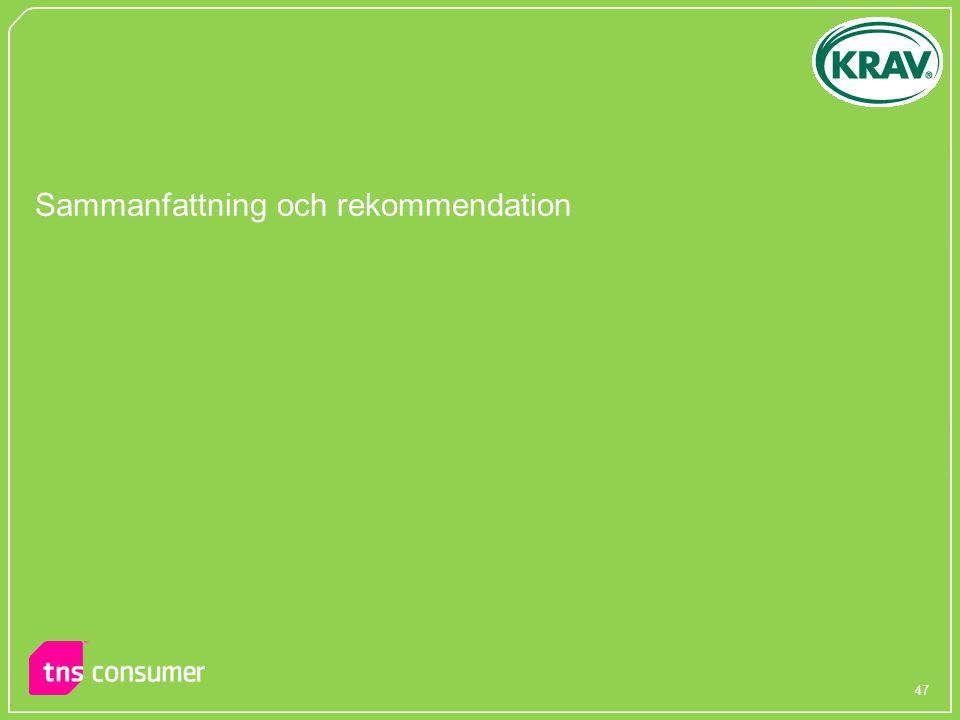 Sammanfattning och rekommendation