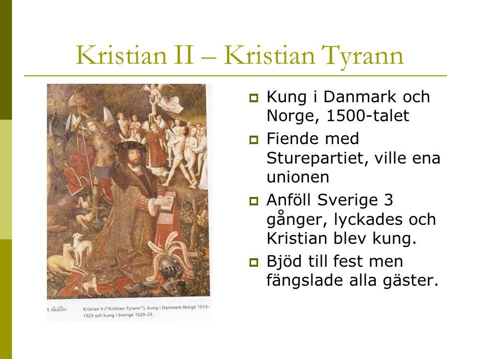 Kristian ΙΙ – Kristian Tyrann