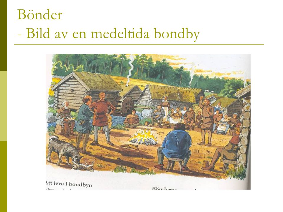 Bönder - Bild av en medeltida bondby