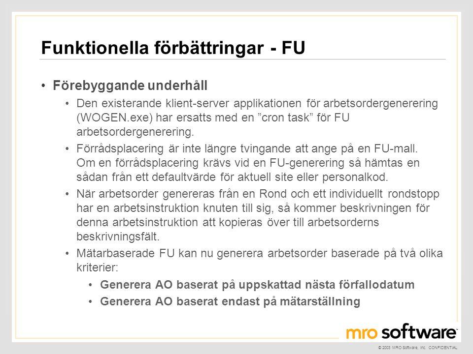 Funktionella förbättringar - FU