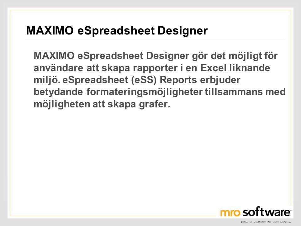 MAXIMO eSpreadsheet Designer
