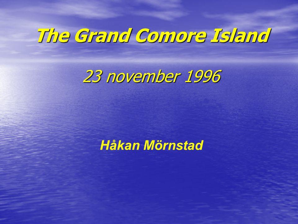 The Grand Comore Island 23 november 1996