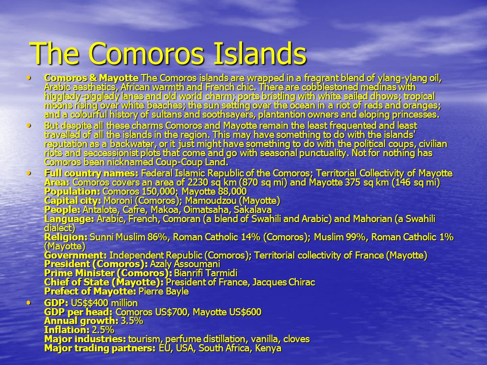 The Comoros Islands