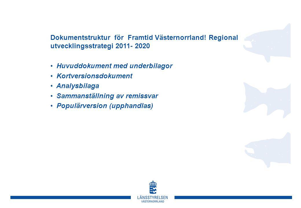 Dokumentstruktur för Framtid Västernorrland