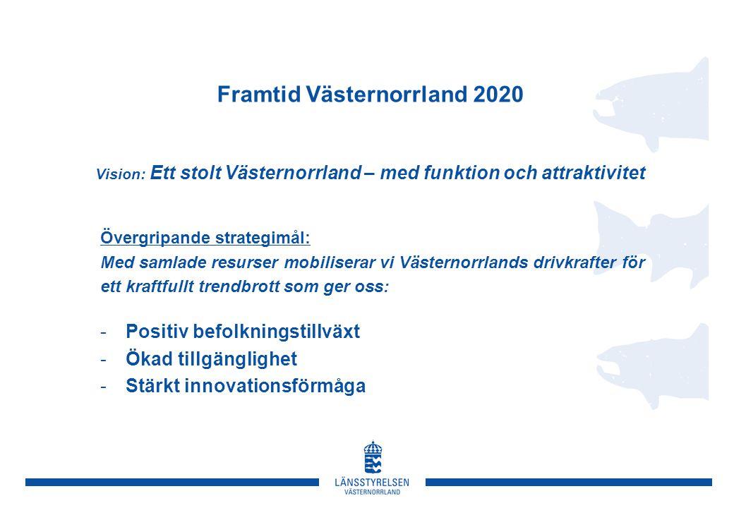 Framtid Västernorrland 2020 Vision: Ett stolt Västernorrland – med funktion och attraktivitet