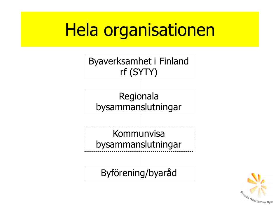 Hela organisationen Byaverksamhet i Finland rf (SYTY)