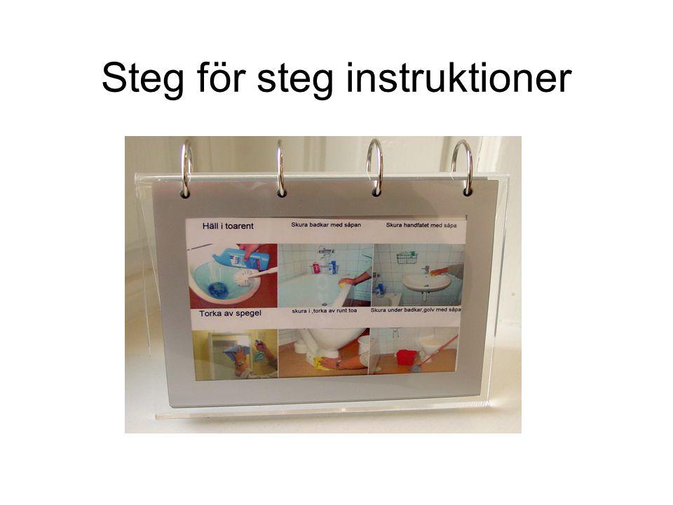 Steg för steg instruktioner