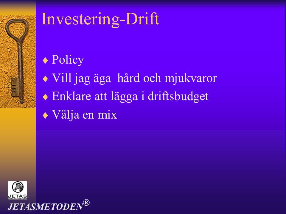 Investering-Drift Policy Vill jag äga hård och mjukvaror