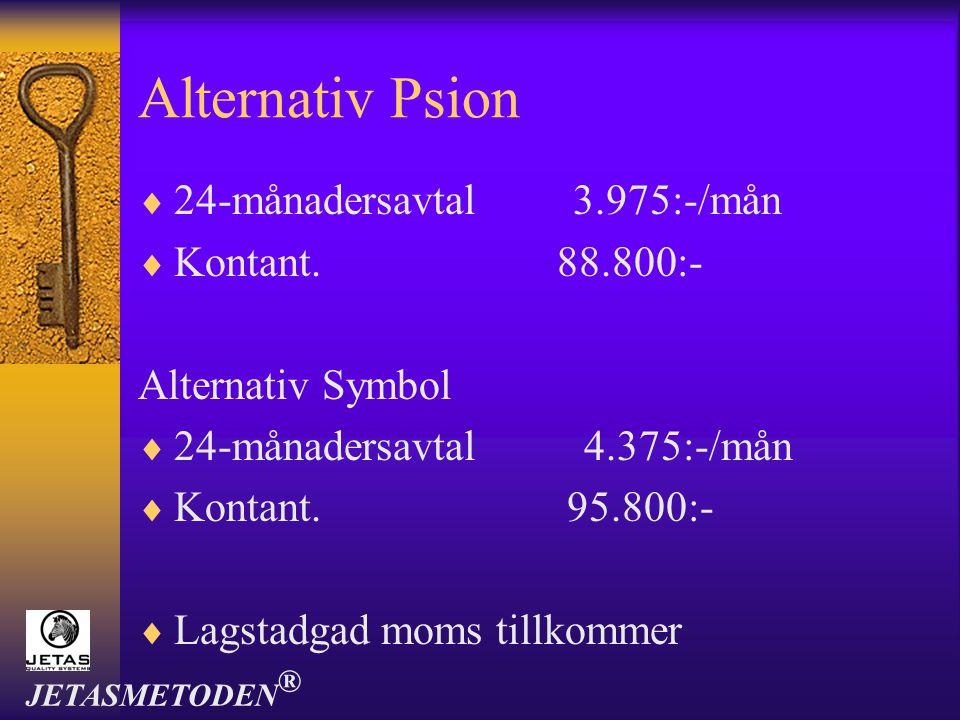 Alternativ Psion 24-månadersavtal 3.975:-/mån Kontant. 88.800:-