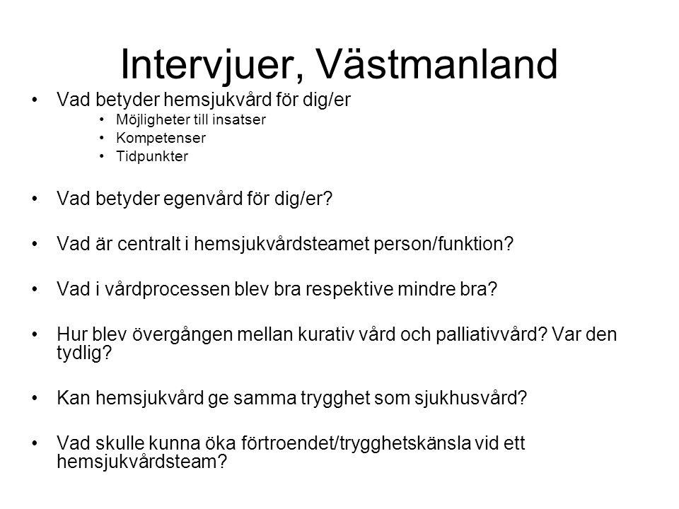 Intervjuer, Västmanland