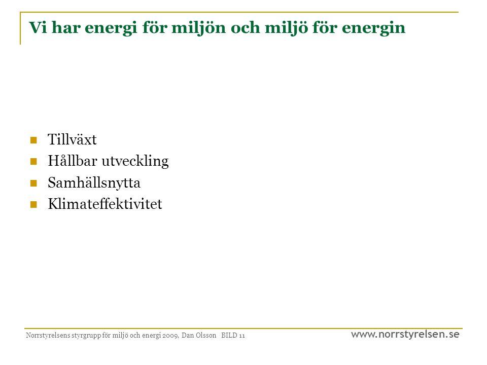Vi har energi för miljön och miljö för energin