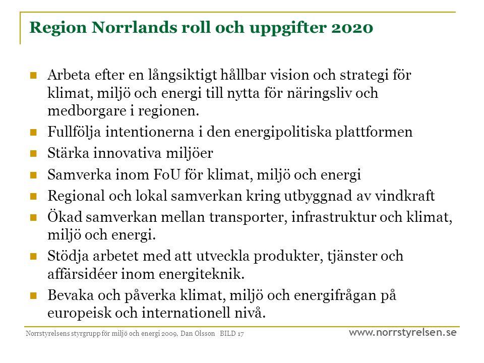 Region Norrlands roll och uppgifter 2020