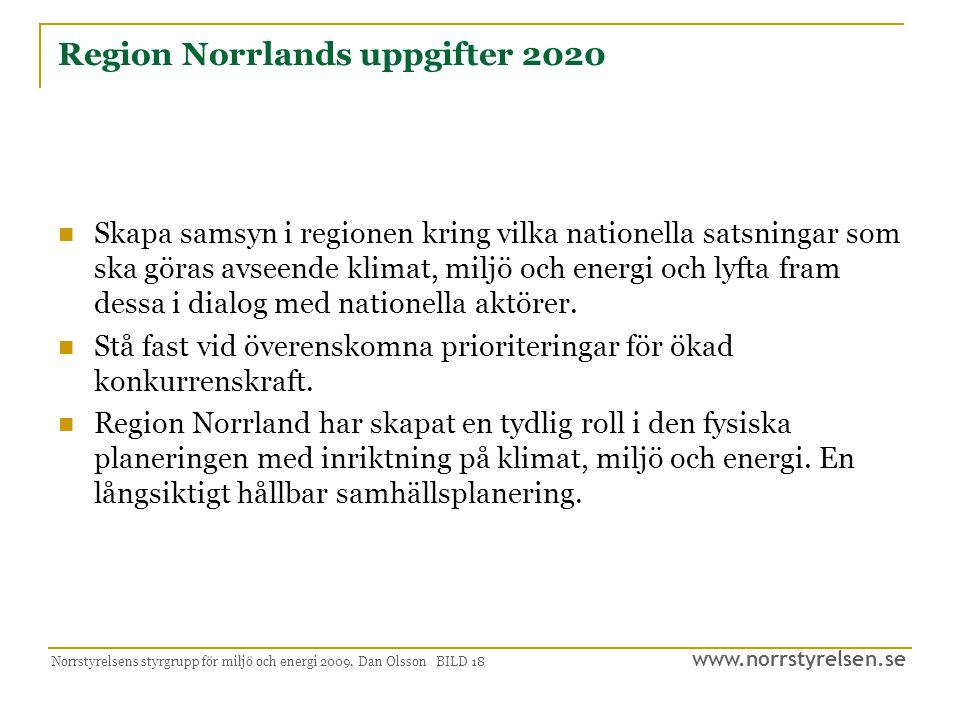 Region Norrlands uppgifter 2020