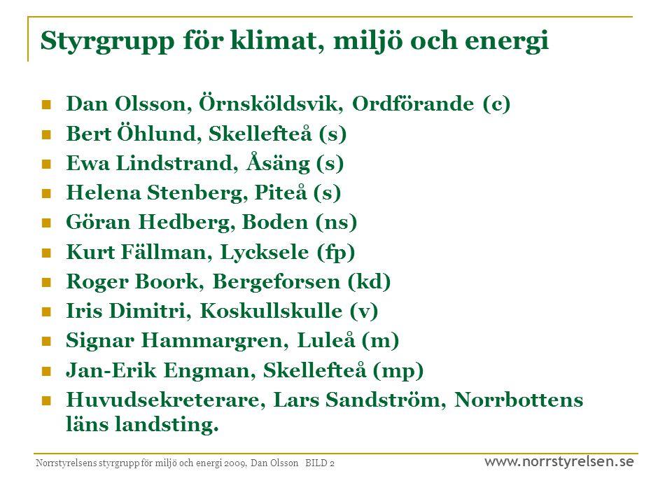 Styrgrupp för klimat, miljö och energi